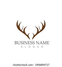 Deer Logo Template vector icon illustration design