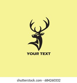 Deer Logo Template. Vector Illustration