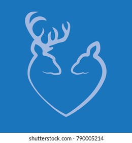 Deer love stencil