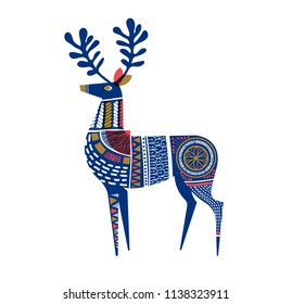 Deer in mid-century, Scandinavian design. Eps10 vector