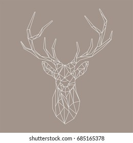Deer polygonal vector image