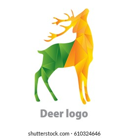 deer shape logo design fully vector re editable and re sizable