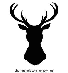 deer silhouette, vector, illustration