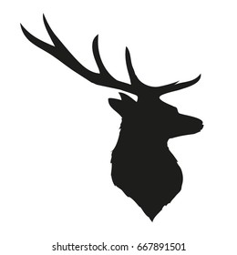deer silhouette, vector, Illustrator