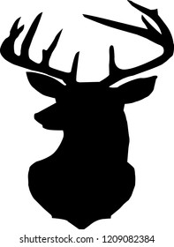 deer silhouette,black deer head,black deer,deer head silhouette
