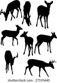 Deer silhouettes.