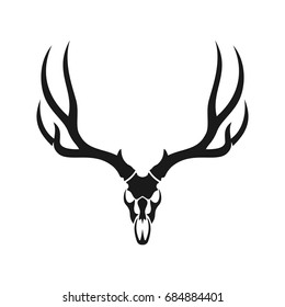 deer skull images stock photos vectors shutterstock rh shutterstock com Deer Rack Drawing Logo Deer Head Logo