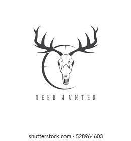 deer skull images stock photos vectors shutterstock rh shutterstock com Deer Logo Design Deer Rack Drawing Logo