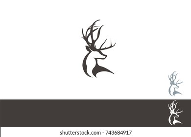Deer Stag Head Brand Concept Icon Design