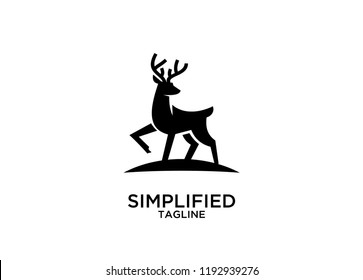 deer stand logo icon designs vector