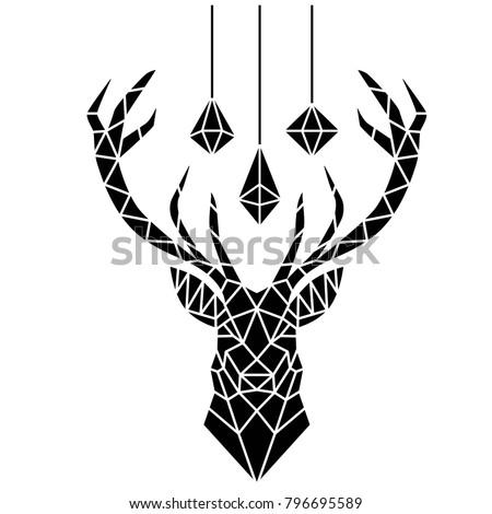 deer stencil art stock vector royalty free 796695589 shutterstock