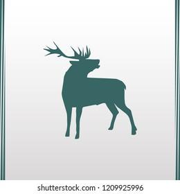deer vector flat illustration