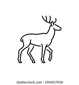 Deer vector icon. Wildlife illustration. Wild animal sign.