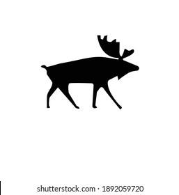 Deer Vector Illustrator Silhouette Icon eps 10
