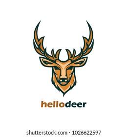 deer wild animal hunt logo