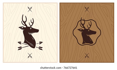 Deer Wood Logo Identity