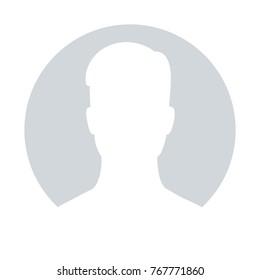 Default avatar profile icon. Grey photo placeholder, illustrations vectors