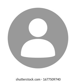 Default Avatar Profile Icon, Social Media User Vector