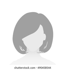 Default Placeholder Avatar Profile on White Background. Woman