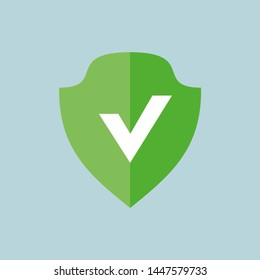 Defence, firewall, protection, safety, shield Flat Color Icon Vector