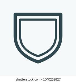 Defense shield, security protection vector icon