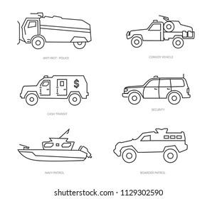 defense vehicle icons
