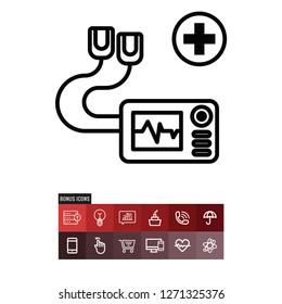 Defibrillator vector icon