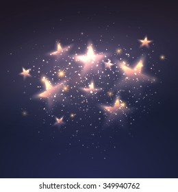 Defocused magic star background. Vector illustration EPS10