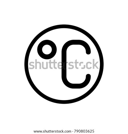 Degree Celsius Icon Trendy Flat Style Stock Vector Royalty Free