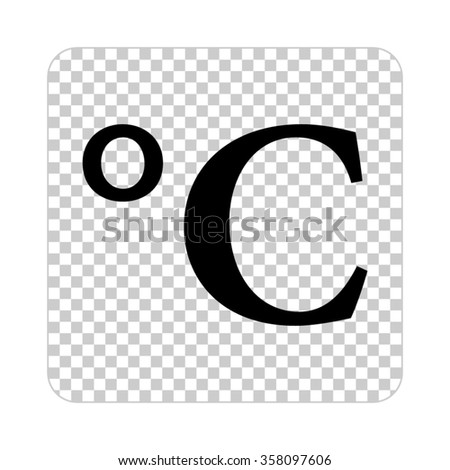 Degrees Celsius Black Vector Icon Stock Vector Royalty Free