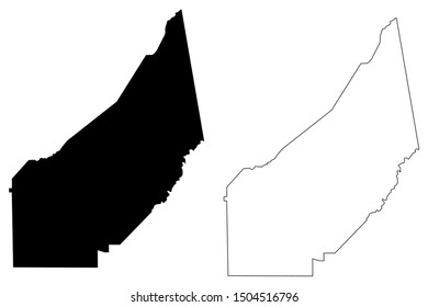 DeKalb County, Alabama (Counties in Alabama, United States of America,USA, U.S., US) map vector illustration, scribble sketch DeKalb map