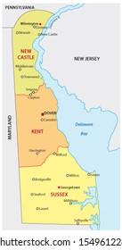 delaware administrative map