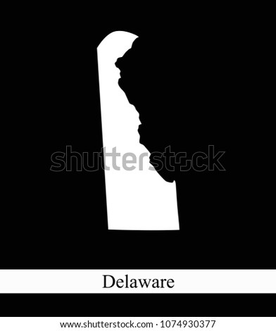 Delaware State USA Map Vector Outline Stock Vector (Royalty Free ...