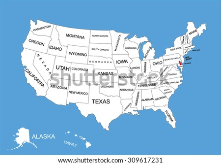 Delaware State USA Vector Map Isolated Stock Vector (Royalty Free ...