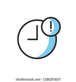 delay icon vector design modern style