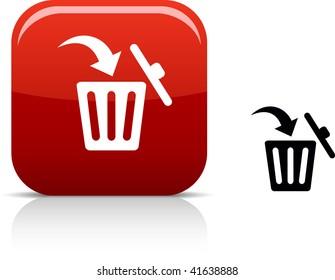Delete beautiful icon. Vector illustration.