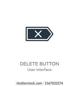 Delete button icon vector. Trendy flat delete button icon from user interface collection isolated on white background. Vector illustration can be used for web and mobile graphic design, logo, eps10