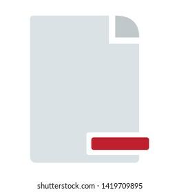delete document icon. flat illustration of delete document vector icon for web