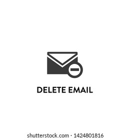 delete email icon vector. delete email vector graphic illustration