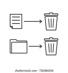 Delete File Icon Vector Design