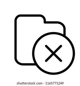 Delete folder icon. Delete waste files. EPS 10.