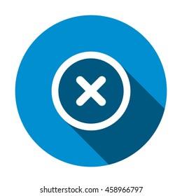 Delete icon, flat design style
