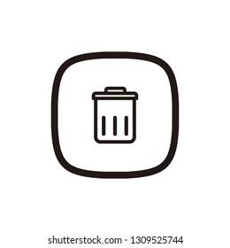 Delete icon sign symbol