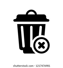 Delete icon. Trendy Delete logo concept on white background from User Interface and Web Navigation collection. Suitable for use on web apps, mobile apps and print media.