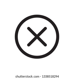Delete icon in trendy outline style design. Vector graphic illustration. Delete icon for website design and user interface. Editable vector stroke. EPS 10