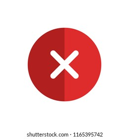 Delete icon vector isolated on white background. Trendy delete icon in flat style. Template for app, ui, logo and web site. Vector illustration, EPS 10