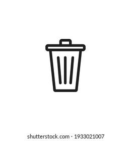 Delete icon vector. Simple bin sign
