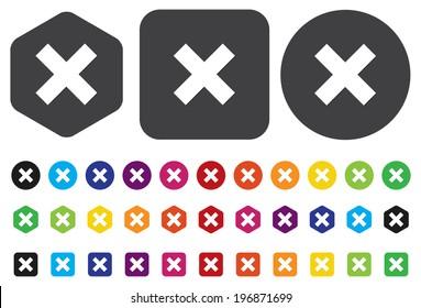 delete remove button