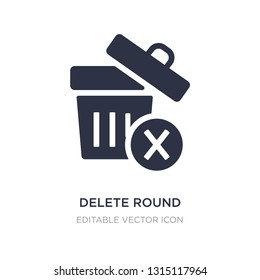 delete round button icon on white background. Simple element illustration from UI concept. delete round button icon symbol design.