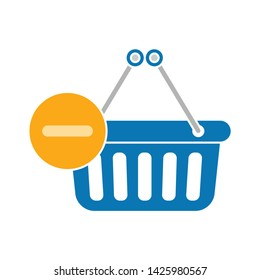 delete from shopping basket icon. flat illustration of delete from shopping basket vector icon for web